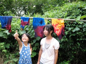tie dye drying