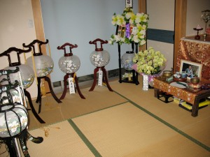 obon lanterns, gifts from relatives and associates