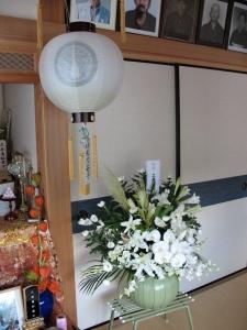 butsudan with Yonezawa crest lantern
