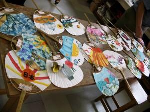 finished paper uchiwa