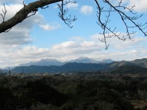 view from Taketa Castle site