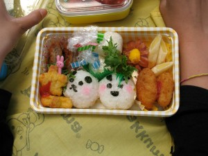 child's bento for a school field trip