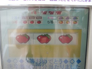 gas pump slots- once you pump your gas, you get a chance to get a free car wash or a few yen off per gallon