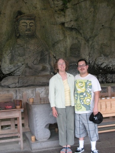 Drew and me at Usuki Sekibutsu