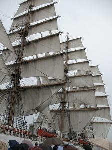 Nippon maru- sails unfurled
