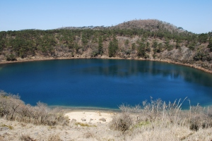 one of several caldera lakes
